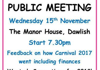 Public Meeting 15 November